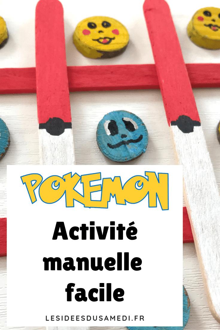 Jeu De Morpion Pokemon: Un Petit Bricolage Facile À Faire tout Activité Manuelle Facile Faire