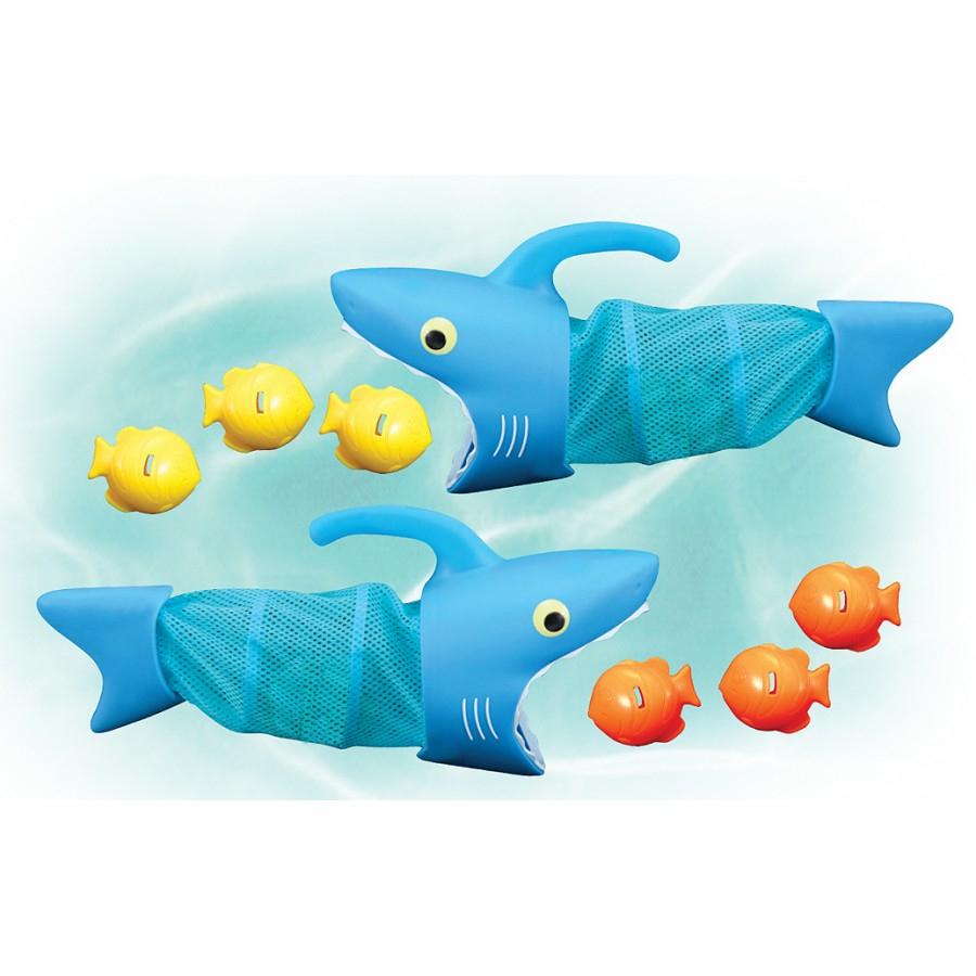 Jeu De Piscine - Requins Chasseurs De Poissons-Jeux-Julie tout Jeux Du Poisson