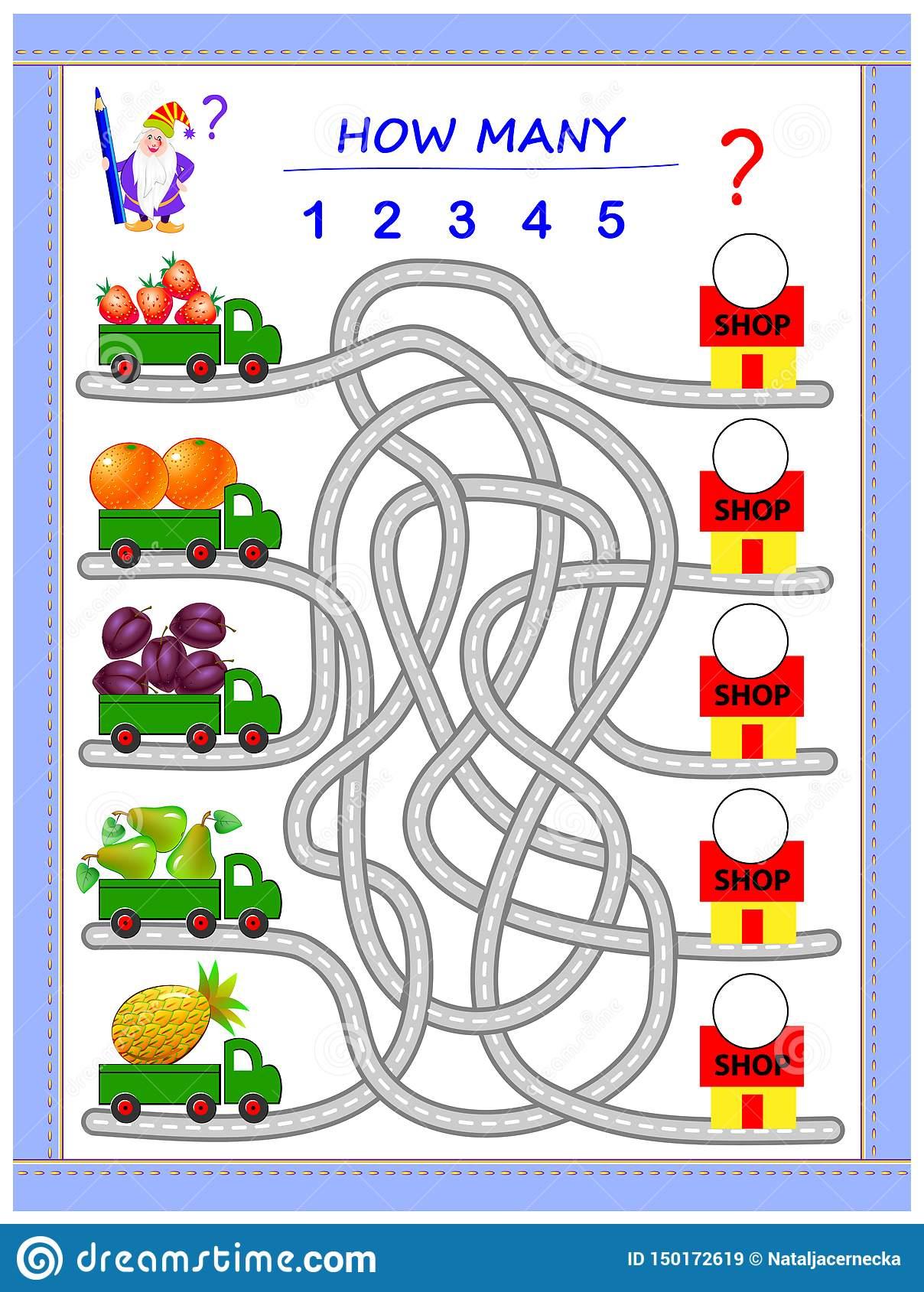 Jeu De Puzzle De Logique Pour De Petits Enfants Où Les intérieur Jeux De Puzzle Enfant
