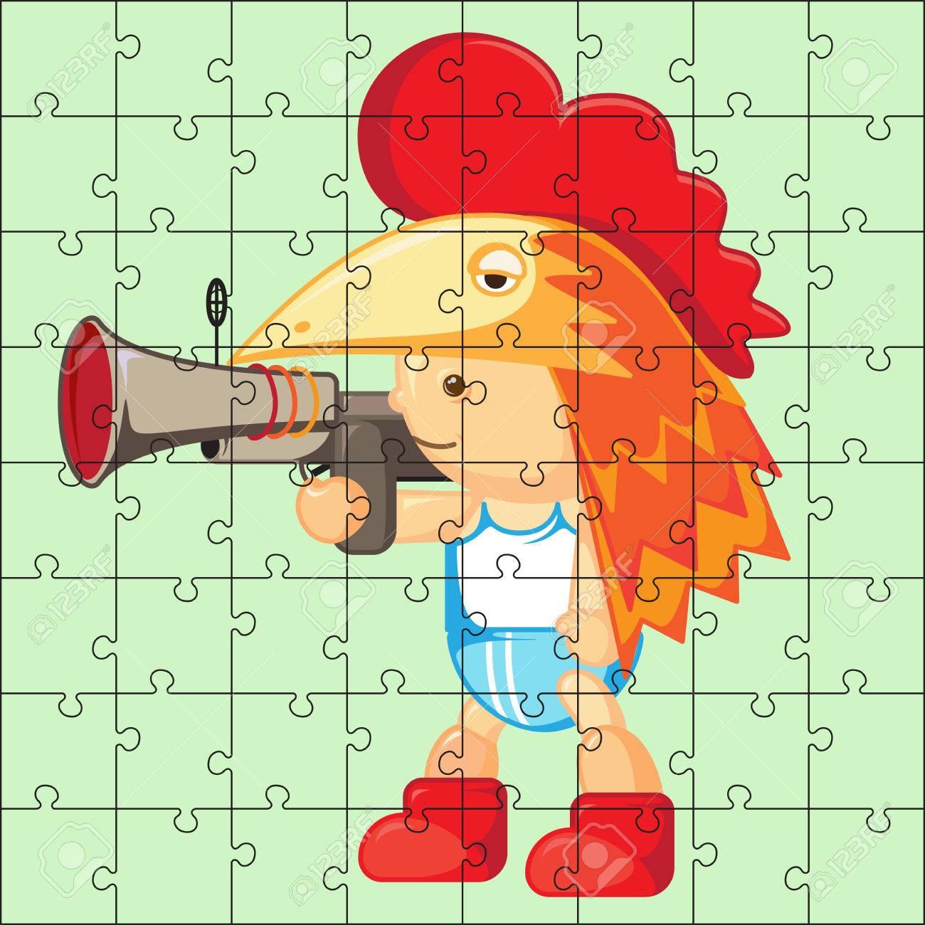 Jeu De Puzzle Pour Les Enfants. Puzzle Avec Garçon. Jeu De Puzzle Pour  Enfant. Visuel, Rébus, Puzzle, Jeu Éducatif Pour Les Enfants D'âge  Préscolaire destiné Jeux De Puzzle Enfant