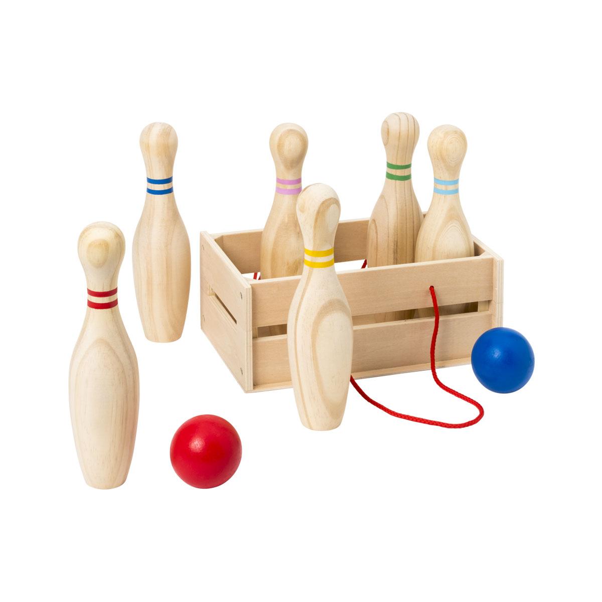 Jeu De Quilles En Bois concernant Jeu Bowling Enfant
