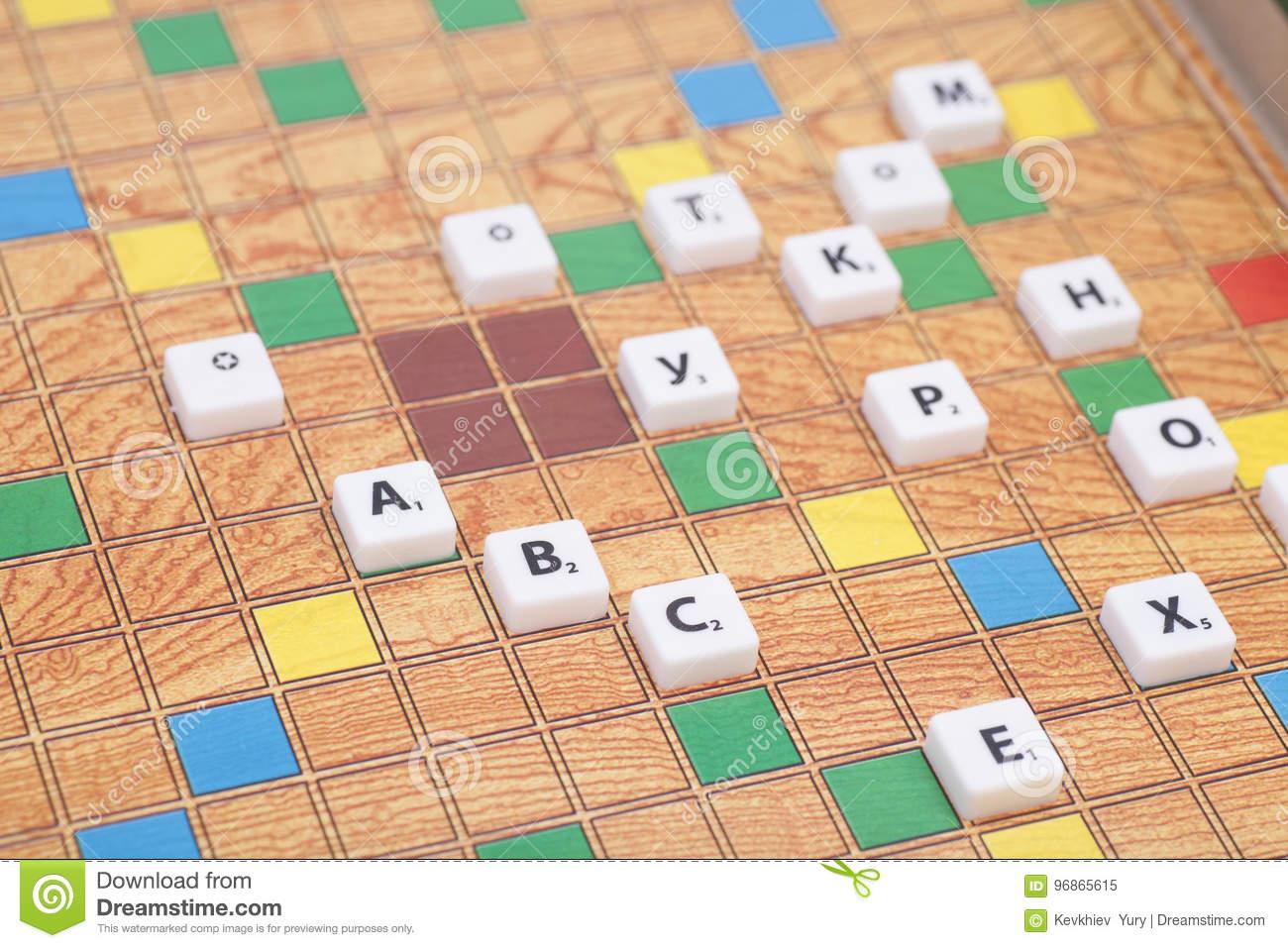 Jeu De Société Avec Les Lettres Et Les Nombres Image Stock encequiconcerne Jeu De Société Avec Des Lettres
