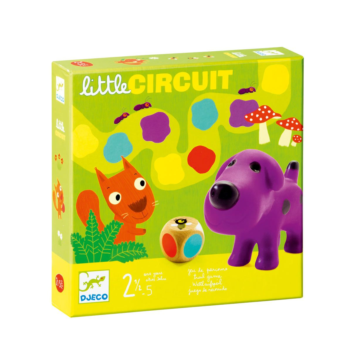 Jeu De Société Little Circuit Djeco Pour Enfant De 2 Ans À 5 avec Jeux De Societe Enfant 5 Ans