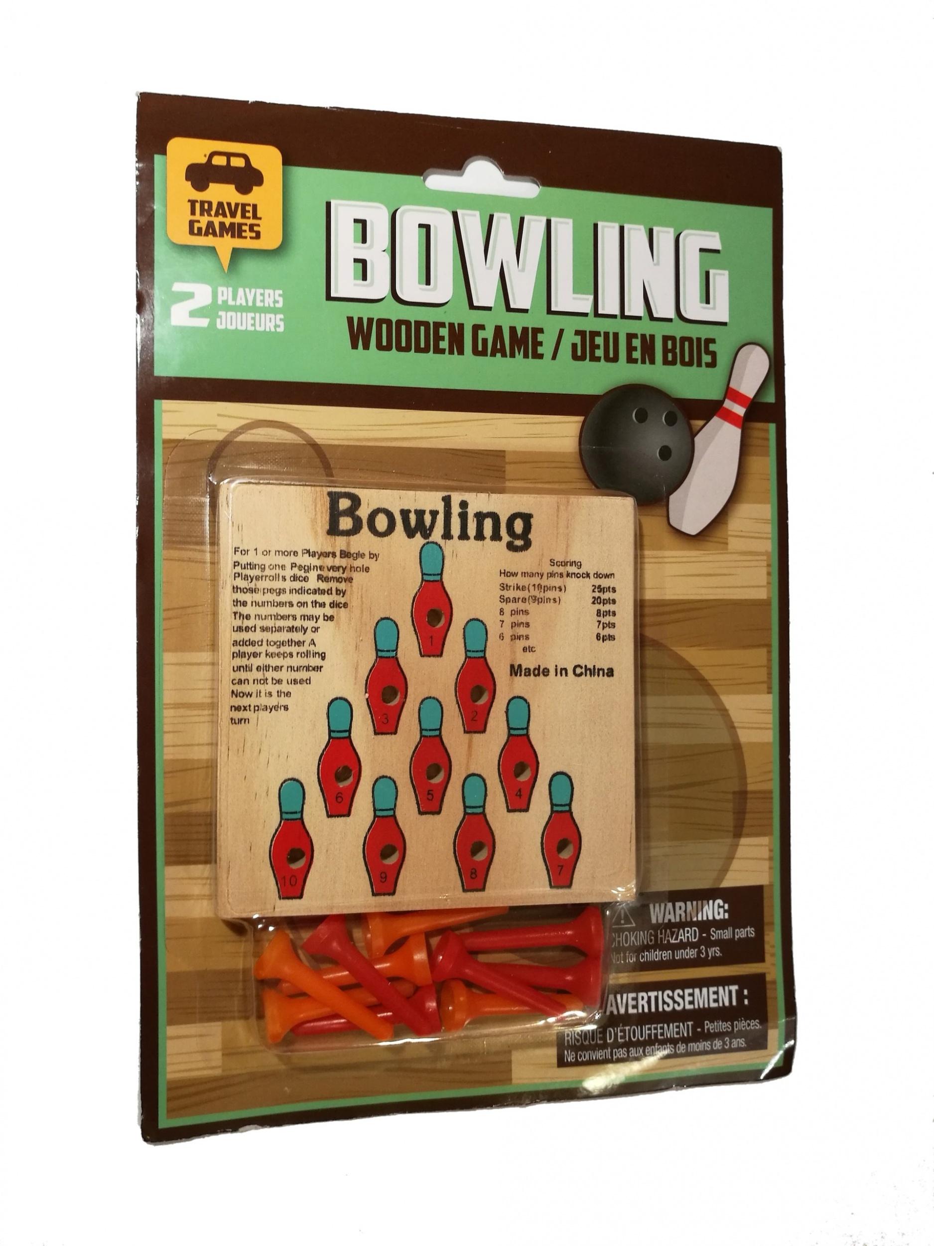 Jeu De Voyage Jeu De Boules En Bois Jeu De Bowling dedans Jeu Bowling Enfant