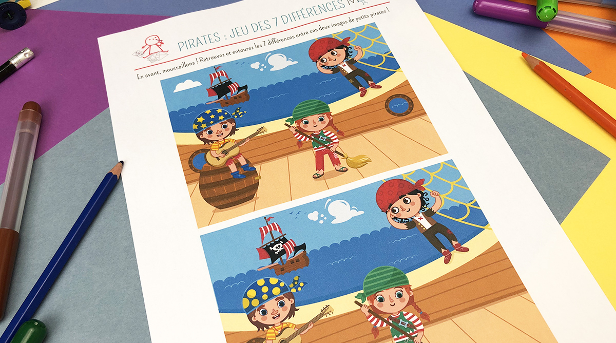 Jeu Des 7 Erreurs : Les Pirates - Momes pour Jeux Des 7 Difference