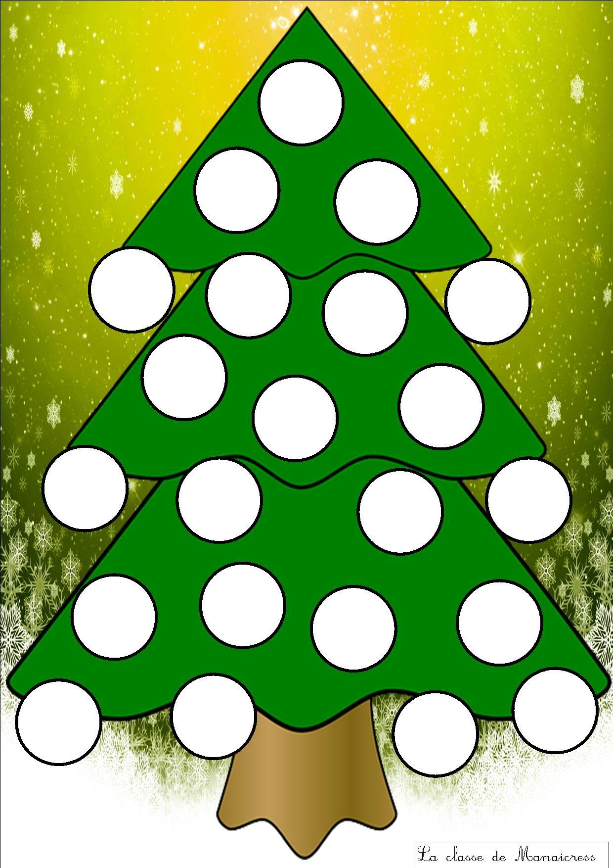 Jeu Des Sapins De Noël - La Classe De Mamaicress pour Jeu Noel Maternelle