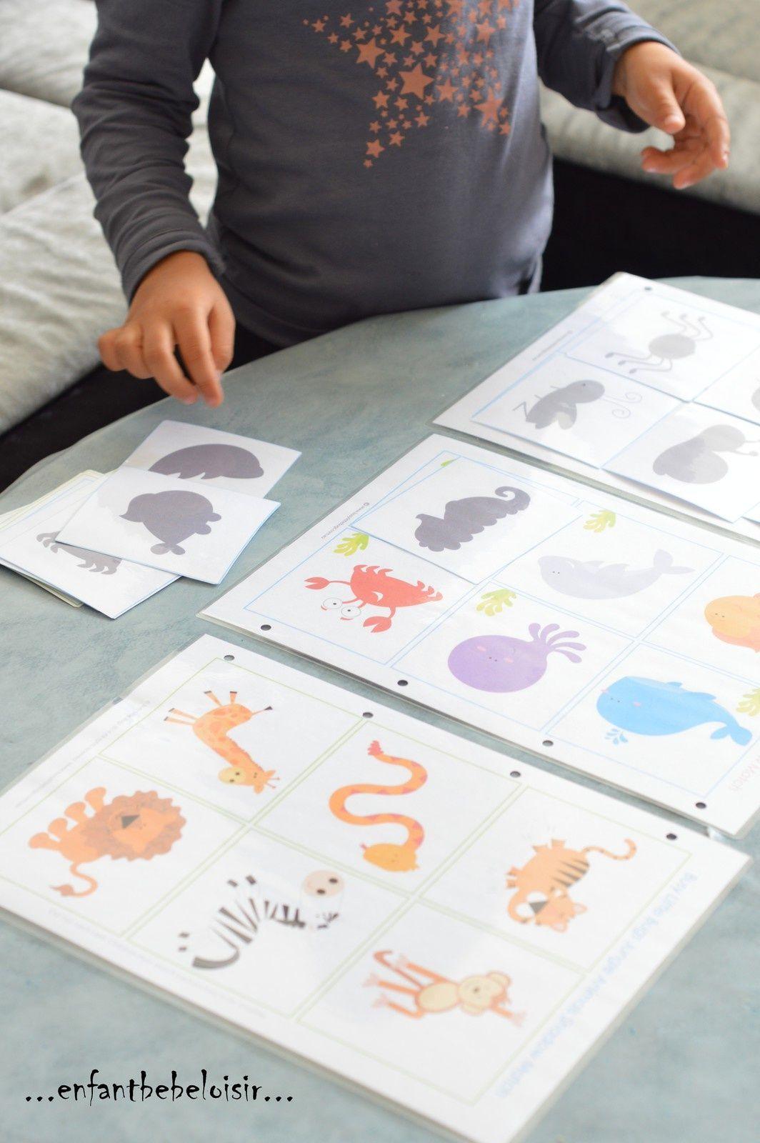 Jeu D'ombres À Imprimer Et Plastifier | Jeux En Voiture Pour pour Jeux Ou Il Faut Retrouver Des Objets
