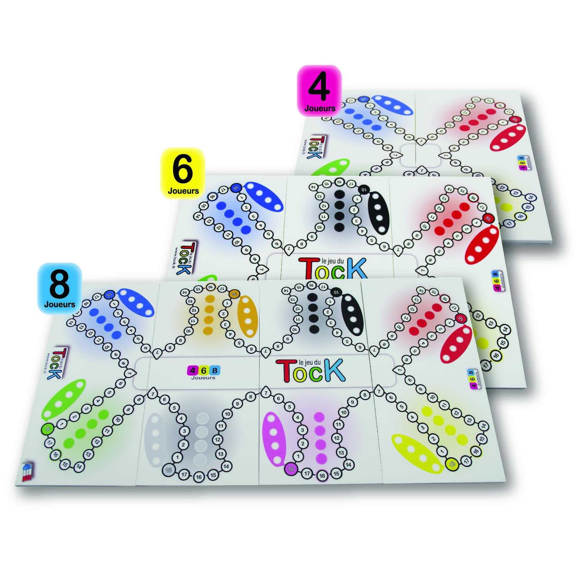 Jeu Du Tock Toc Tac-Tik 4 6 8 Joueurs encequiconcerne Jeu De 4 Images
