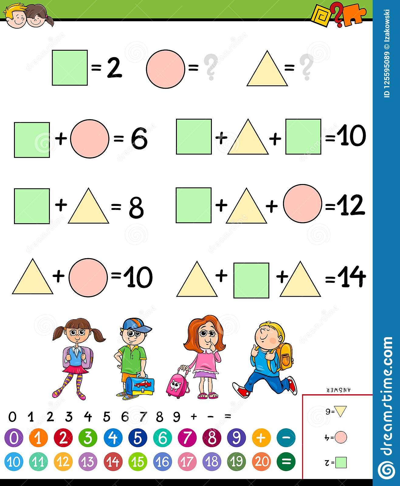 Jeu Éducatif De Calcul De Maths Pour Des Enfants encequiconcerne Jeu Calcul Enfant