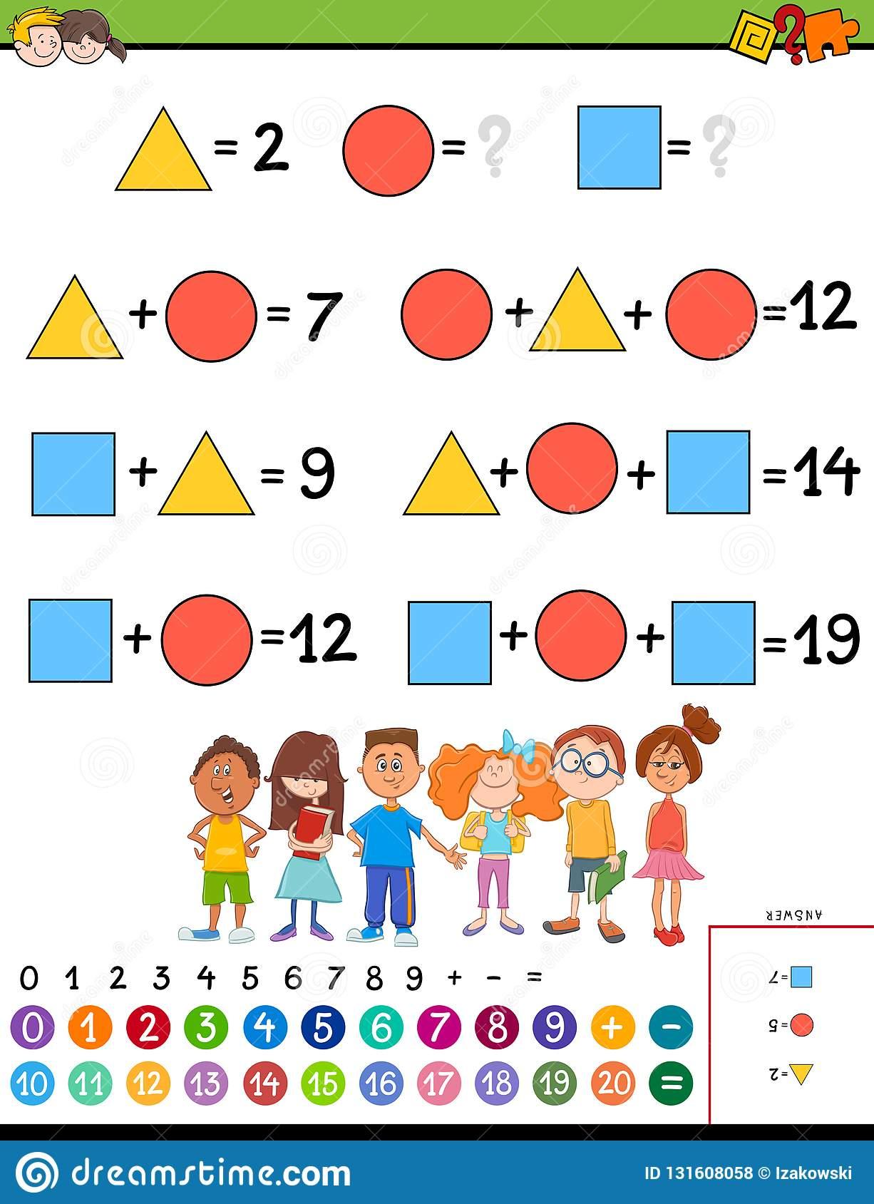 Jeu Éducatif De Calcul De Maths Pour Des Enfants intérieur Jeu Calcul Enfant