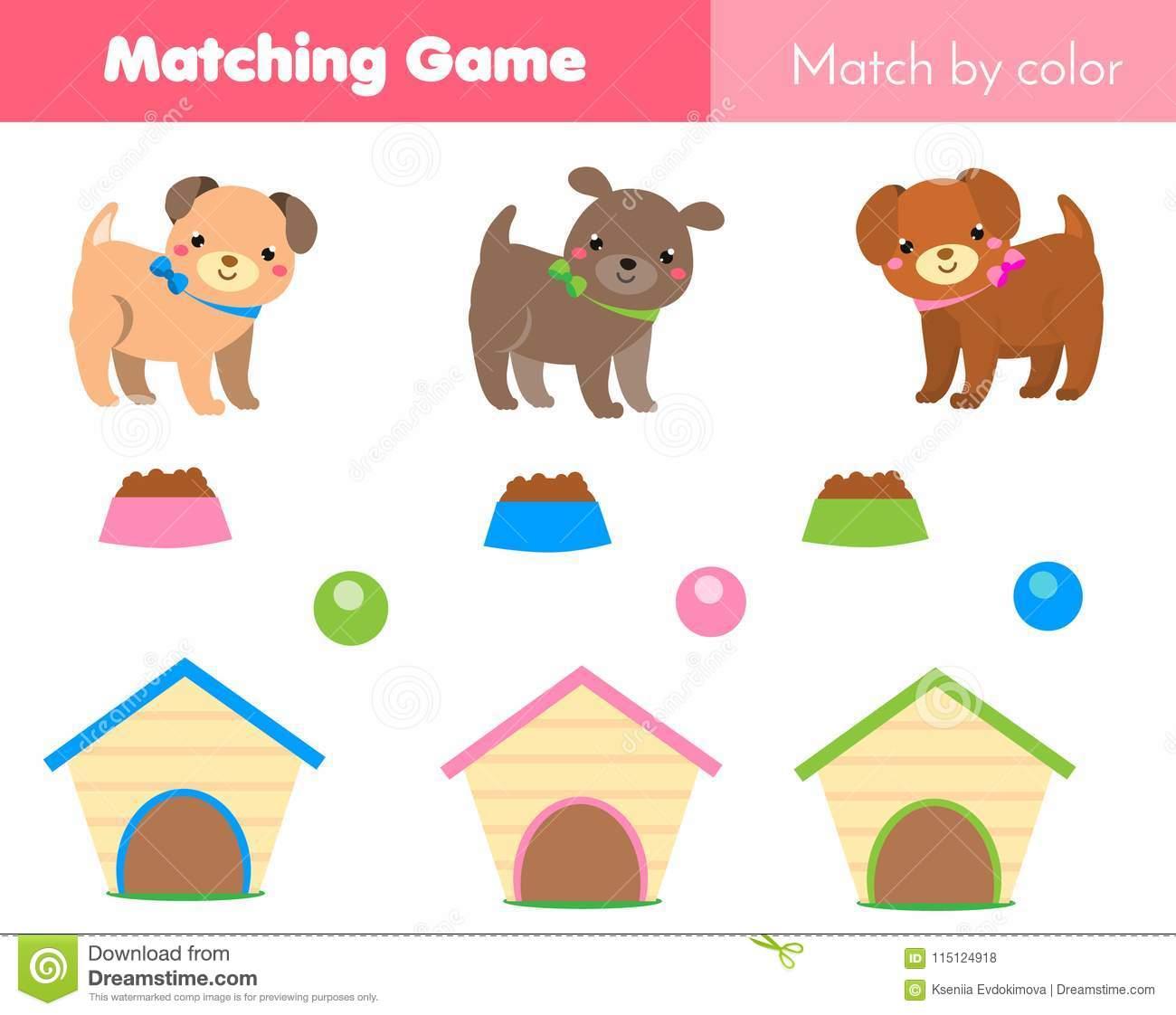 Jeu Éducatif D'enfants Match Par Couleur Le Thème D'animaux dedans Jeux Animaux Enfant