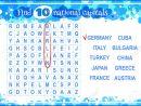Jeu Éducatif Pour Les Enfants, La Recherche De Mots. Trouver 10 Capitales  Nationales. Feuille De Travail Pour La Classe Ou À La Maison Avec Les serapportantà Jeu Des Capitales