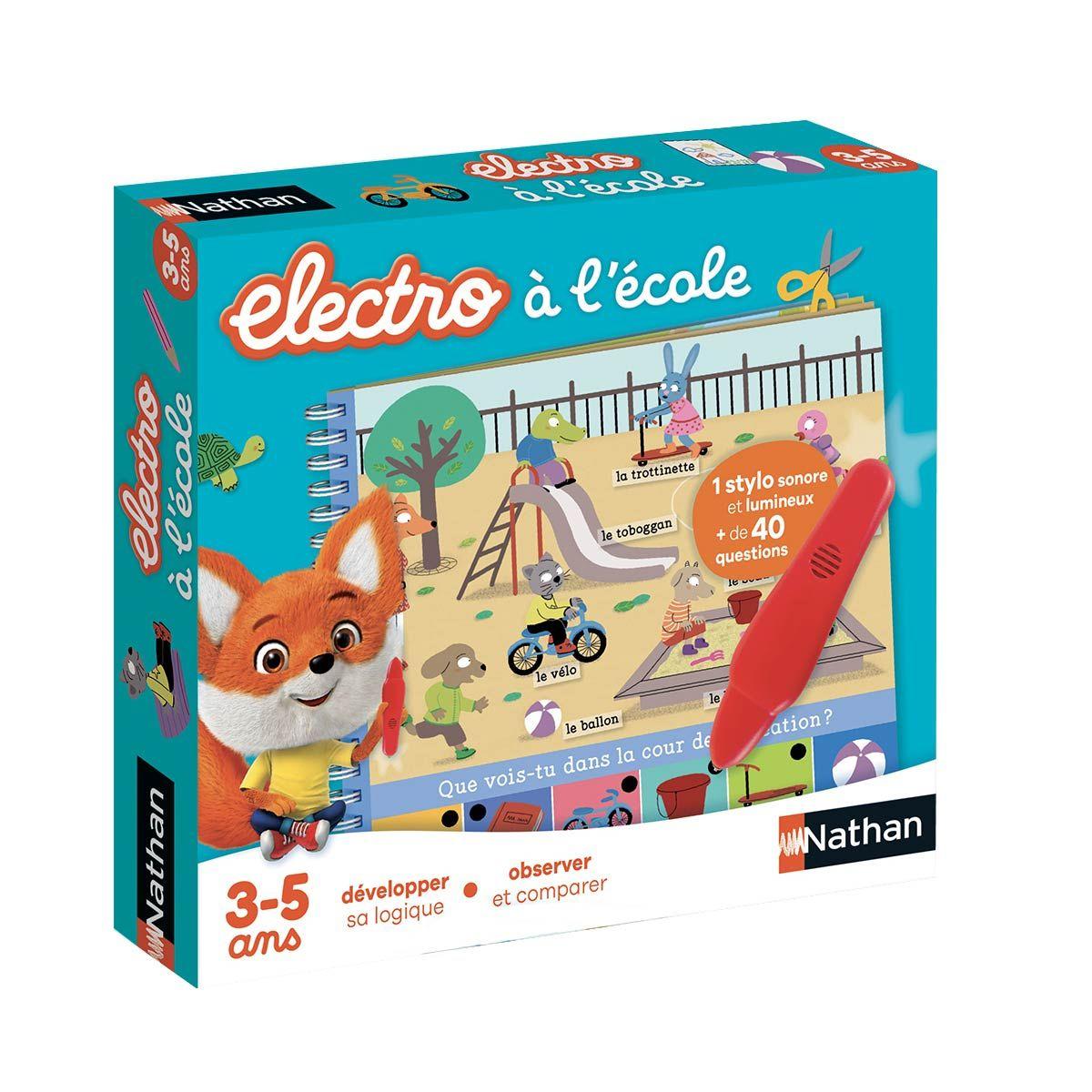 Jeu Interactif Electro Livre-Jeu À L'école Nathan | Jeu pour Petit Jeux 3 5 Ans