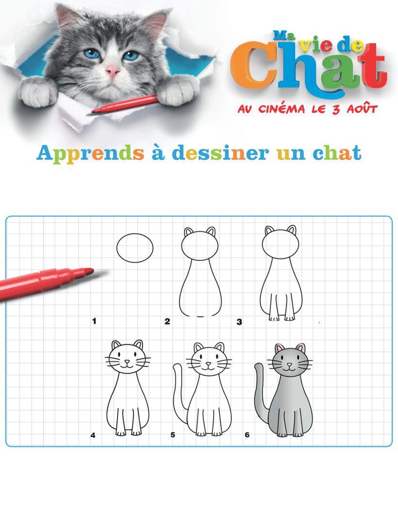 Jeu : Ma Vie De Chat : Dessiner Un Chat | Anniversaire Chat destiné Jeux De Dessin De Chat