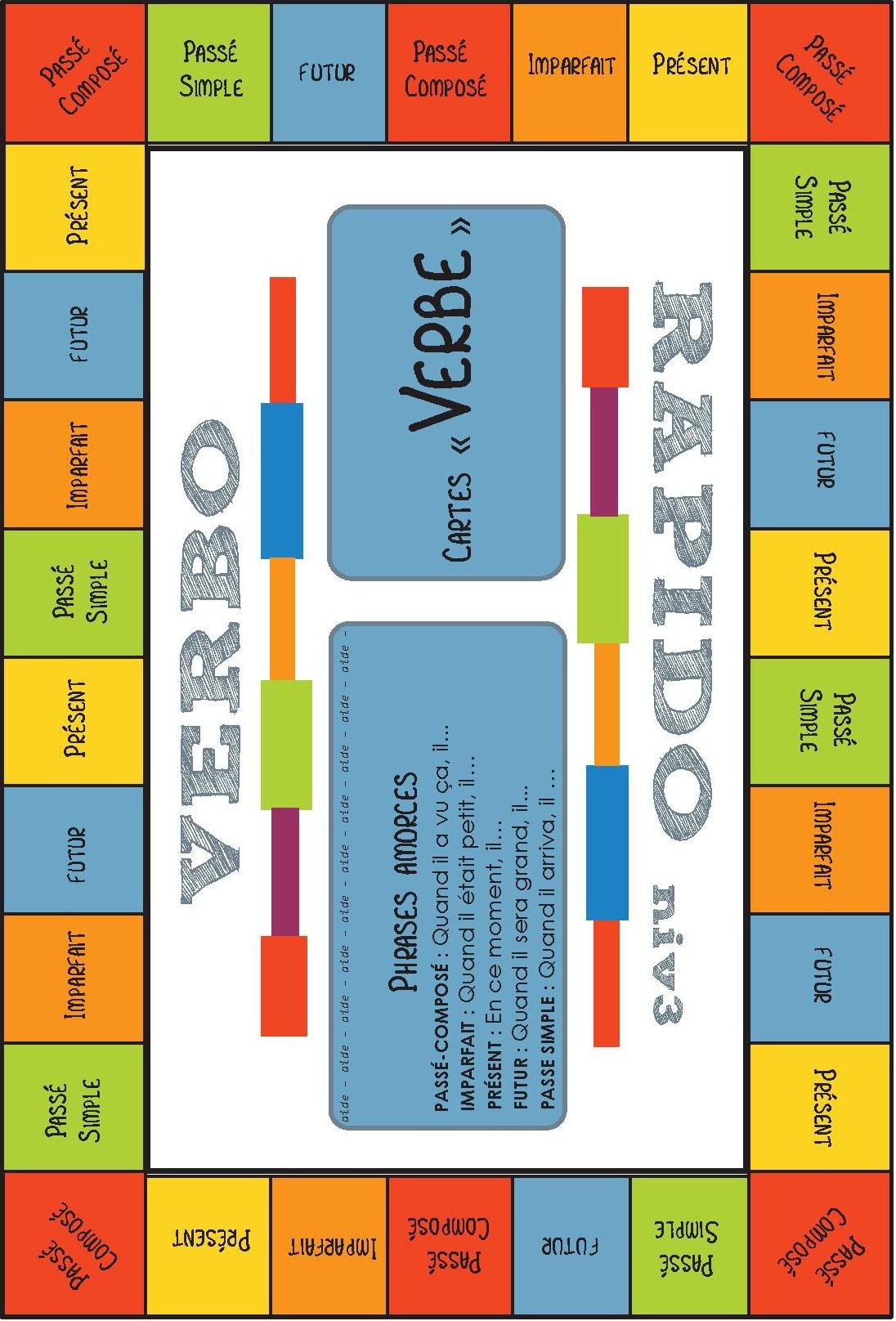 Jeu Pour La Classe] Conjugaison – Verbo-Rapido – Cycle 3 encequiconcerne Jeux Mathématiques Ce2 À Imprimer