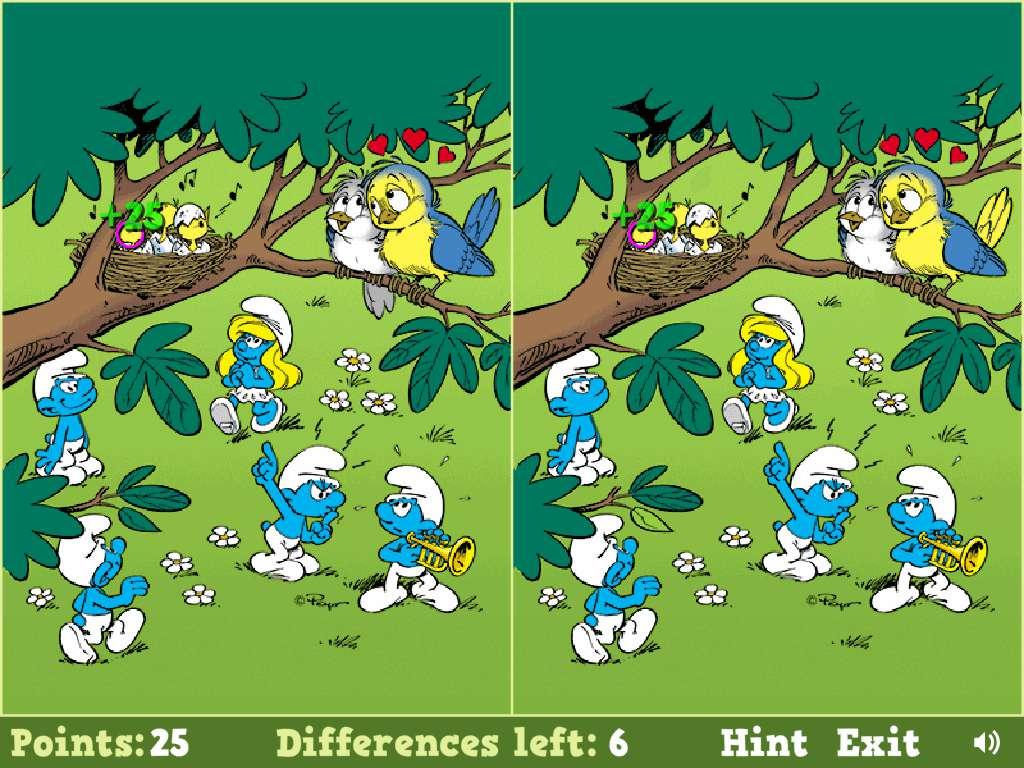 Jeu Schtroumpf Smurfs Spot The Difference / Jeuxgratuits avec Jeux Gratuits De Différences