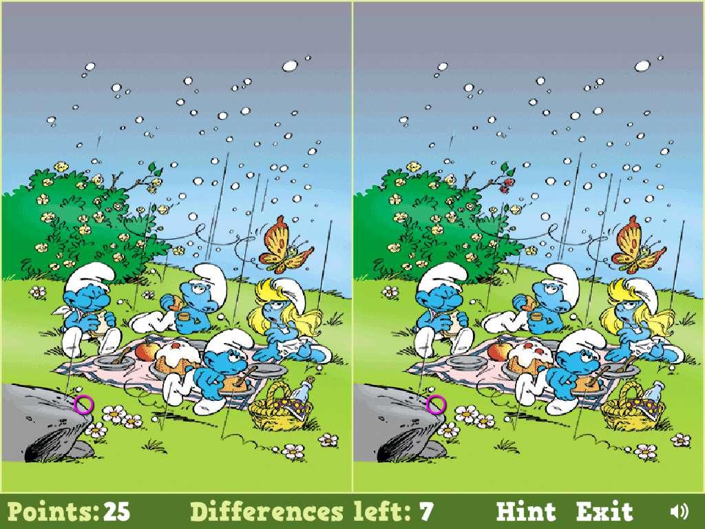 Jeu Schtroumpf Smurfs Spot The Difference / Jeuxgratuits pour Jeux Gratuits De Différences