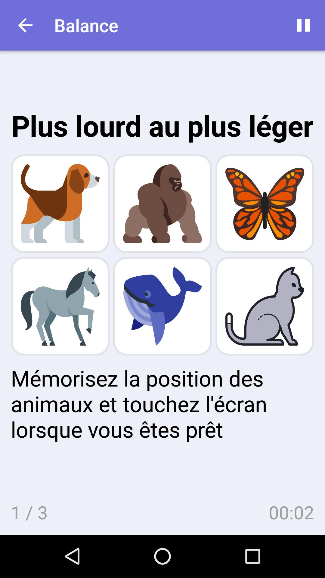 Jeux Cérébraux Gratuits Pour Iphone & Android - Brainilis destiné Jeux De Animaux Gratuit