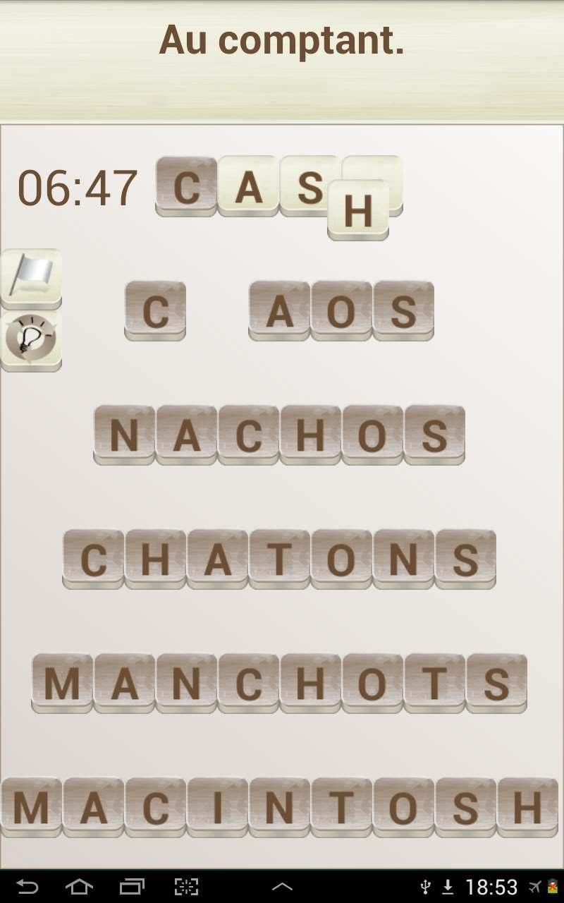 Jeux De Mots En Français For Android - Apk Download destiné Application Jeux De Mots