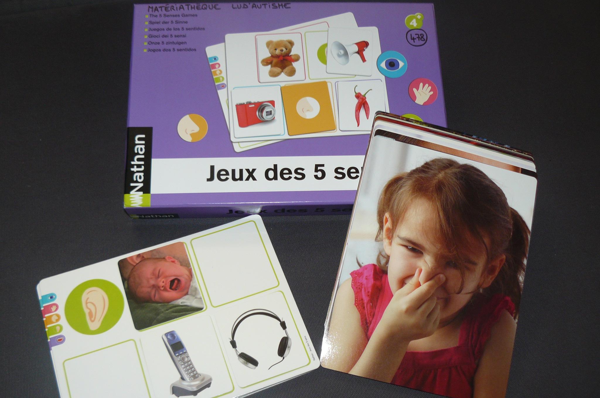 Jeux Des 5 Sens (N°478) | Lud'autisme pour Jeu Des Cinq Sens