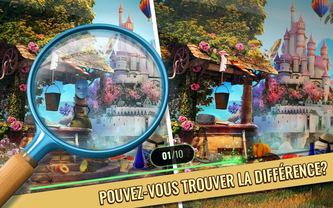 Jeux Des Differences Gratuit - Château Enchanté Pour Android destiné Jeux Gratuits De Différences