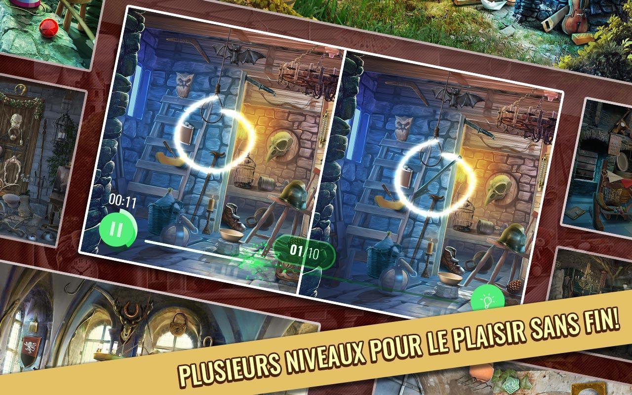 Jeux Des Differences Gratuit - Château Enchanté Pour Android encequiconcerne Jeux Gratuits De Différences