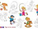 Jeux D'été Pour Enfants À Colorier. Livre De Coloriage Pour Éduquer Les  Enfants. Apprendre Les Couleurs Jeu Éducatif Visuel Jeu Facile Et Éducation avec Cahier De Coloriage Enfant