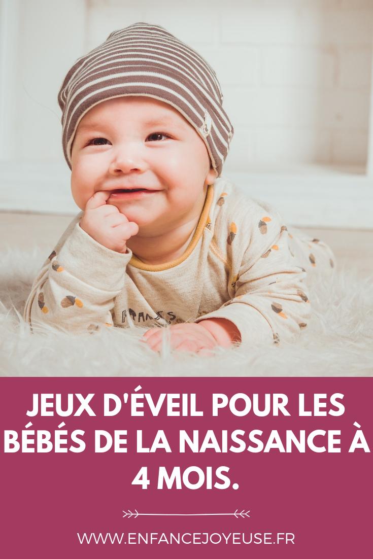 Jeux D'éveil De La Naissance À 4 Mois | Bricolage Bébé concernant Jeux Eveil Bebe 2 Mois
