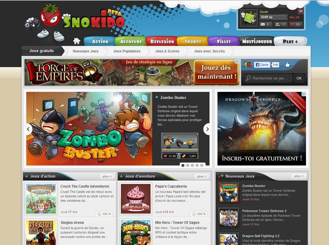 Jeux Gratuits Sur Snokido.fr destiné Jeux Internet Gratuit Francais