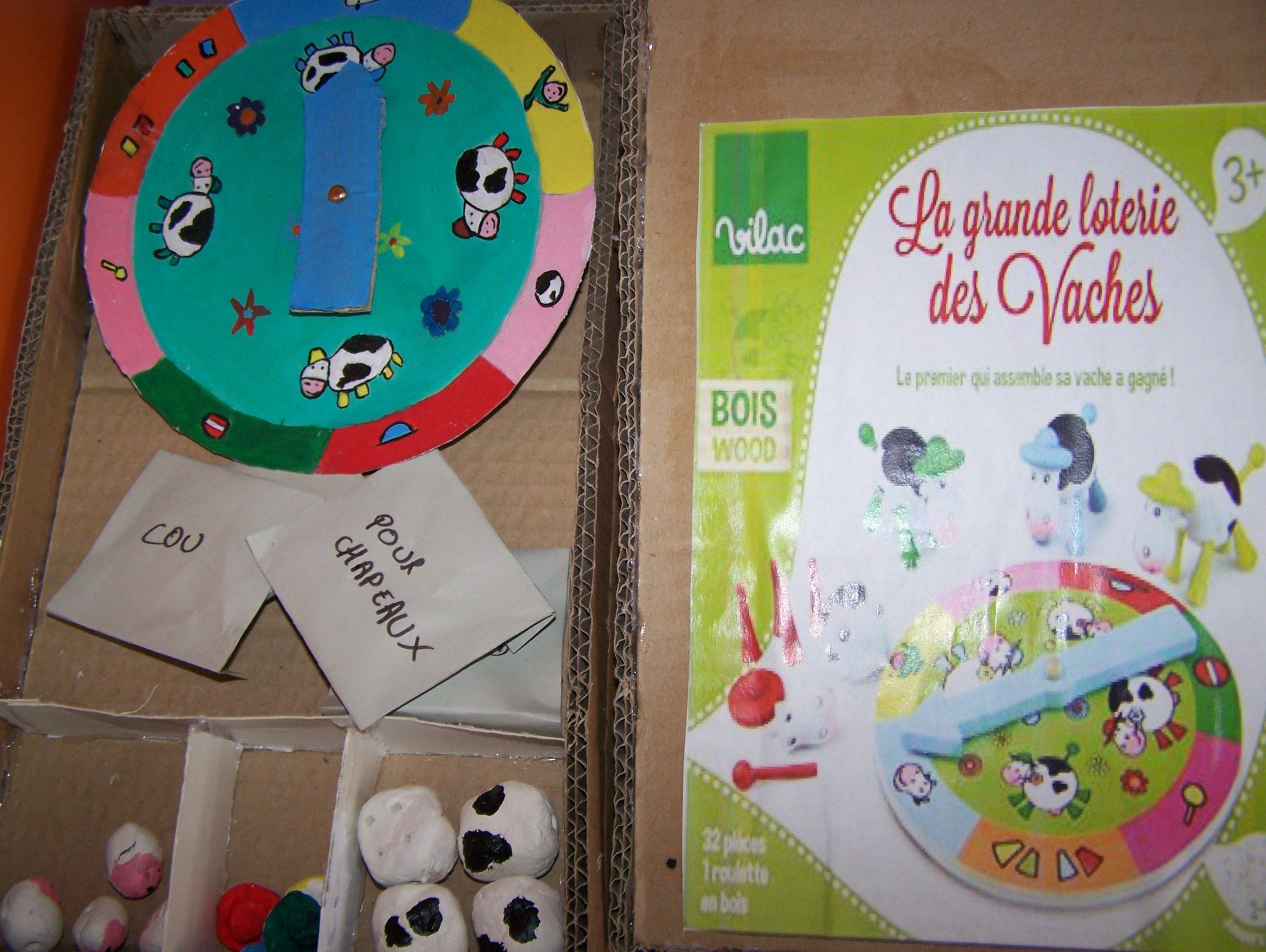 Jeux La Grande Loterie Des Vaches pour Jeu Des Chapeaux