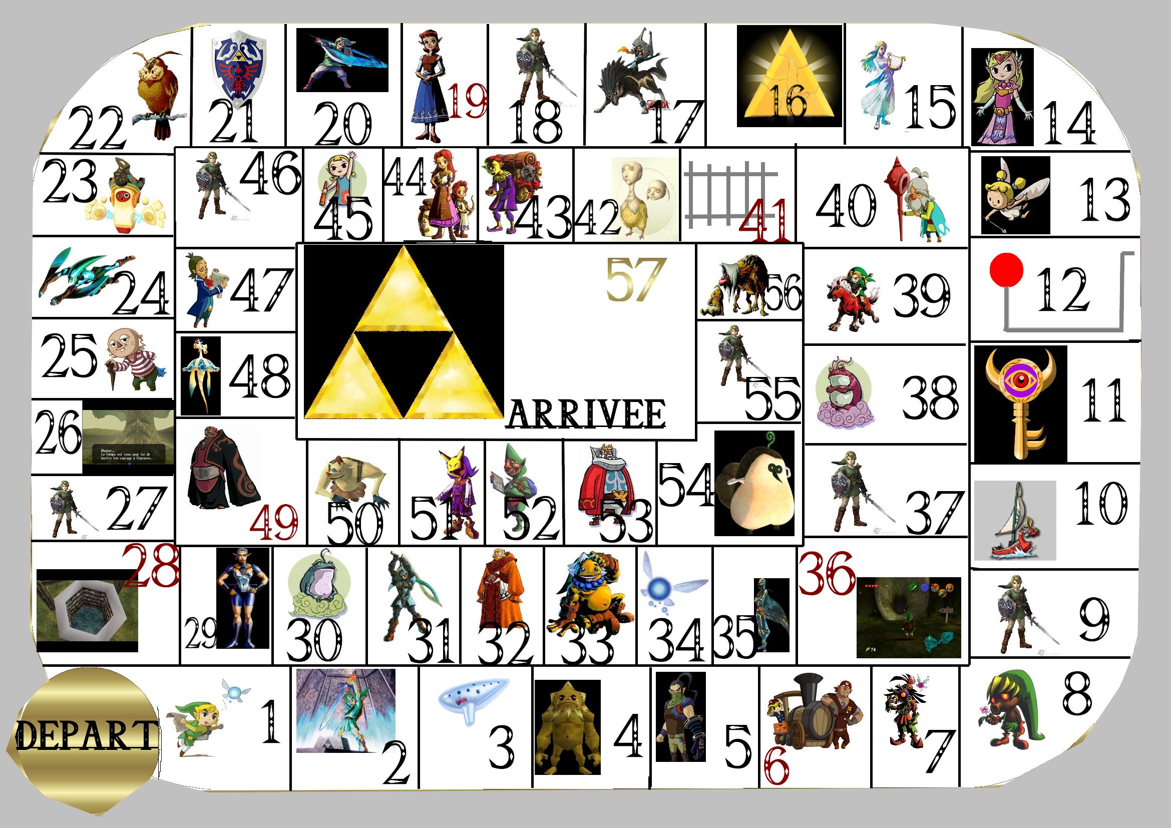 Jeux Papier - Le Palais De Zelda concernant Jeu De L Oie A Imprimer