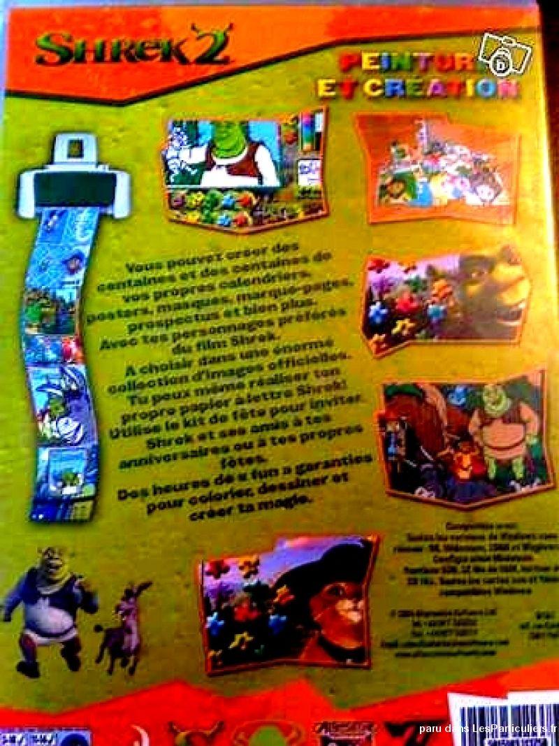 Jeux-Pc Shrek 2 Peinture Et Création Pour Enfant pour Jeux Enfant Sur Pc