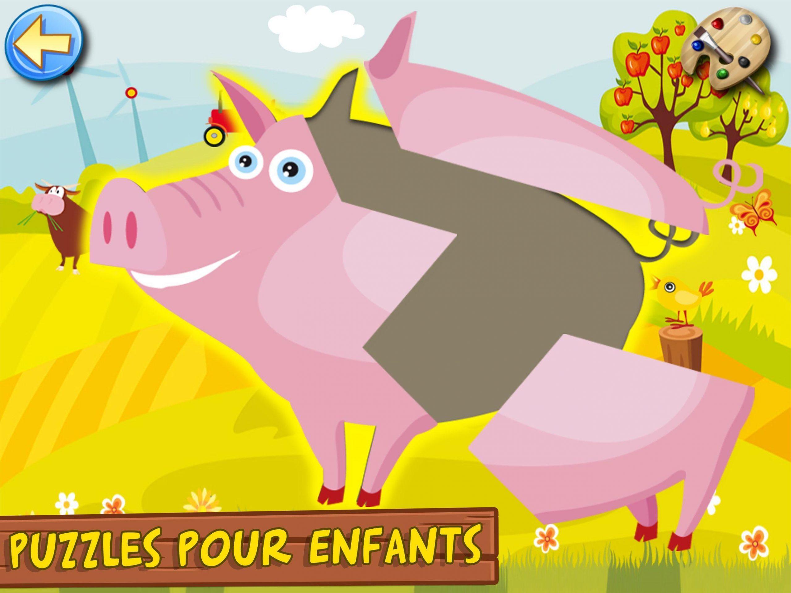 Jeux Pour Enfants Et Bebe 3+ Ans Gratuit: Ferme Pour Android avec Jeux De Enfan Gratuit