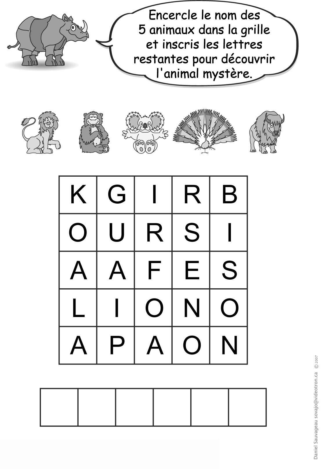 Jeux Pour Enfants No 33 tout Jeux Enfant Animaux