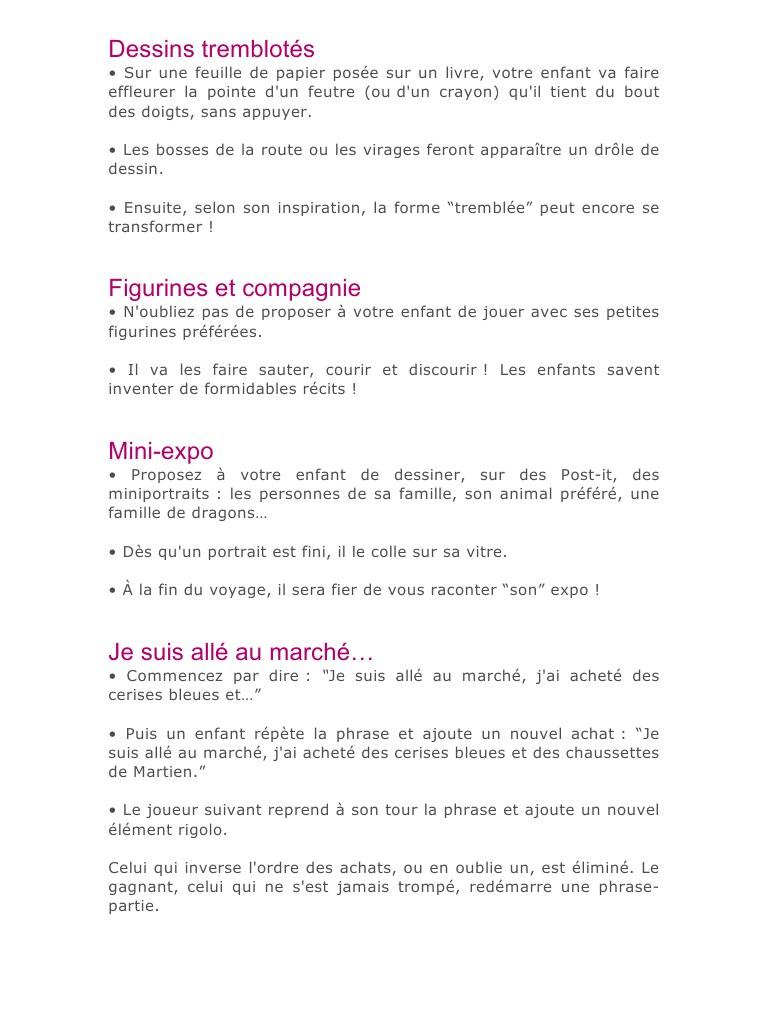 Jeux Pour La Voiture .docx - Jeux Pour La Voiture Pdf concernant Jeux A Faire Dans La Voiture