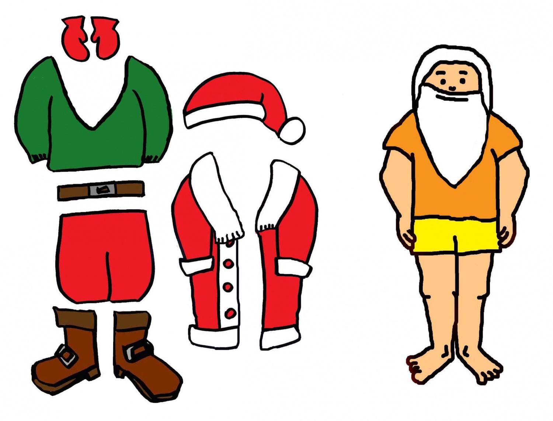 J'habille Le Père Noël - Ptiloupassion encequiconcerne Pere Noel A Decouper