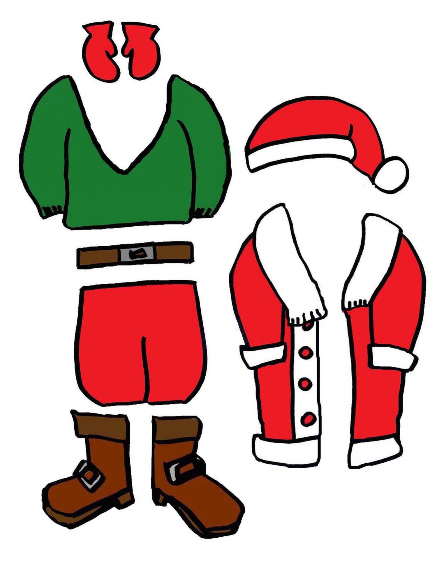 J'habille Le Père Noël - Ptiloupassion pour Pere Noel A Decouper
