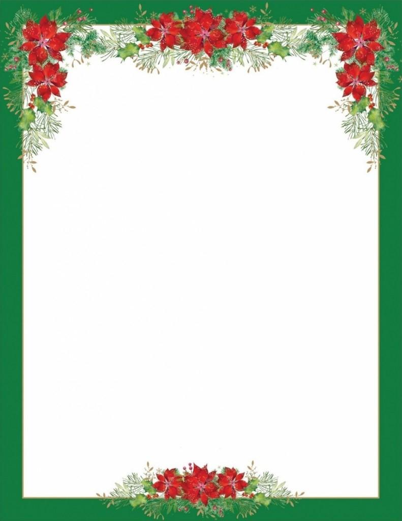 Joli Papier À Lettre Pere Noel Word dedans Papier À Lettre Père Noel À Imprimer Gratuitement