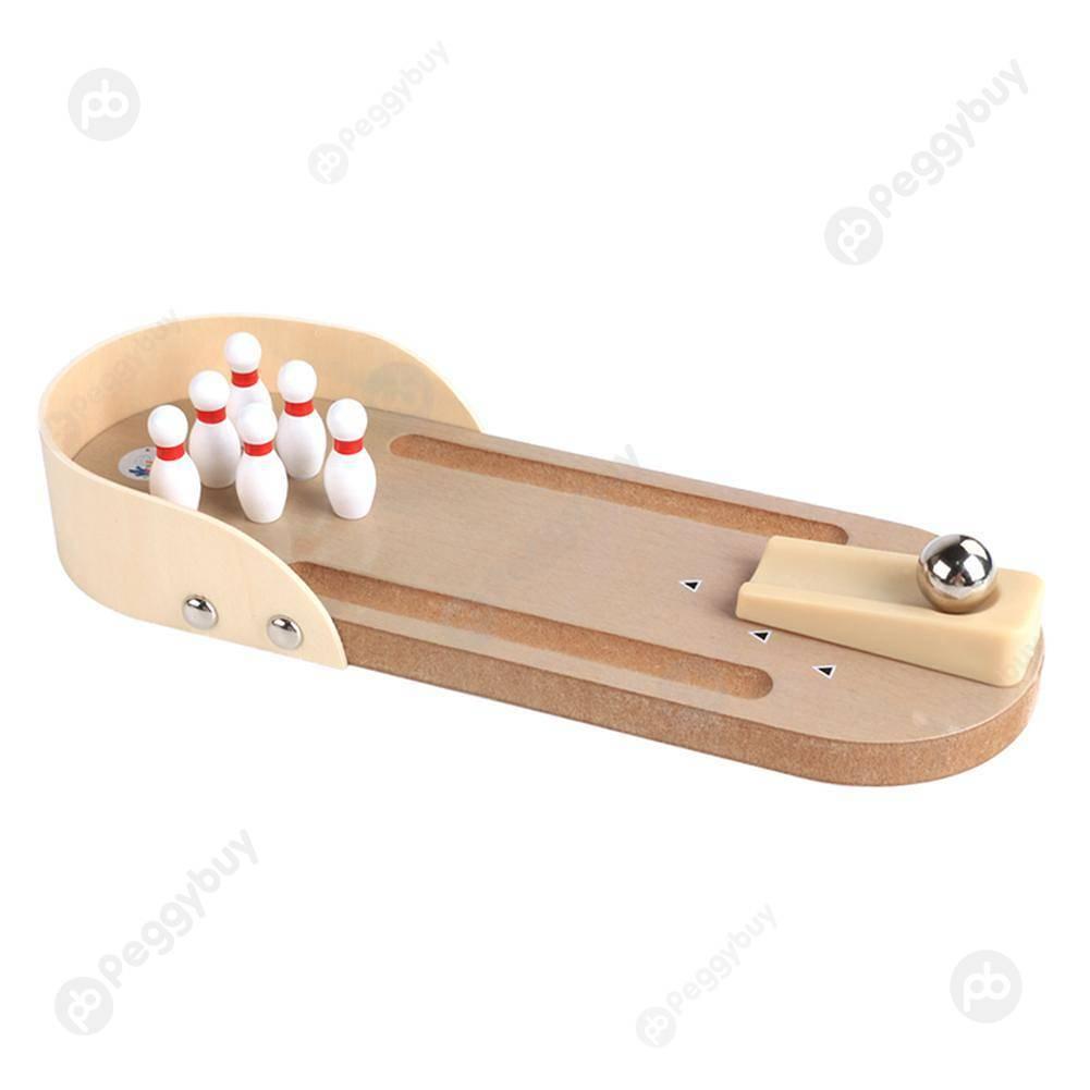 Jouet De Jeu De Bowling En Bois Jeu De Table De Secours De avec Jeu Bowling Enfant