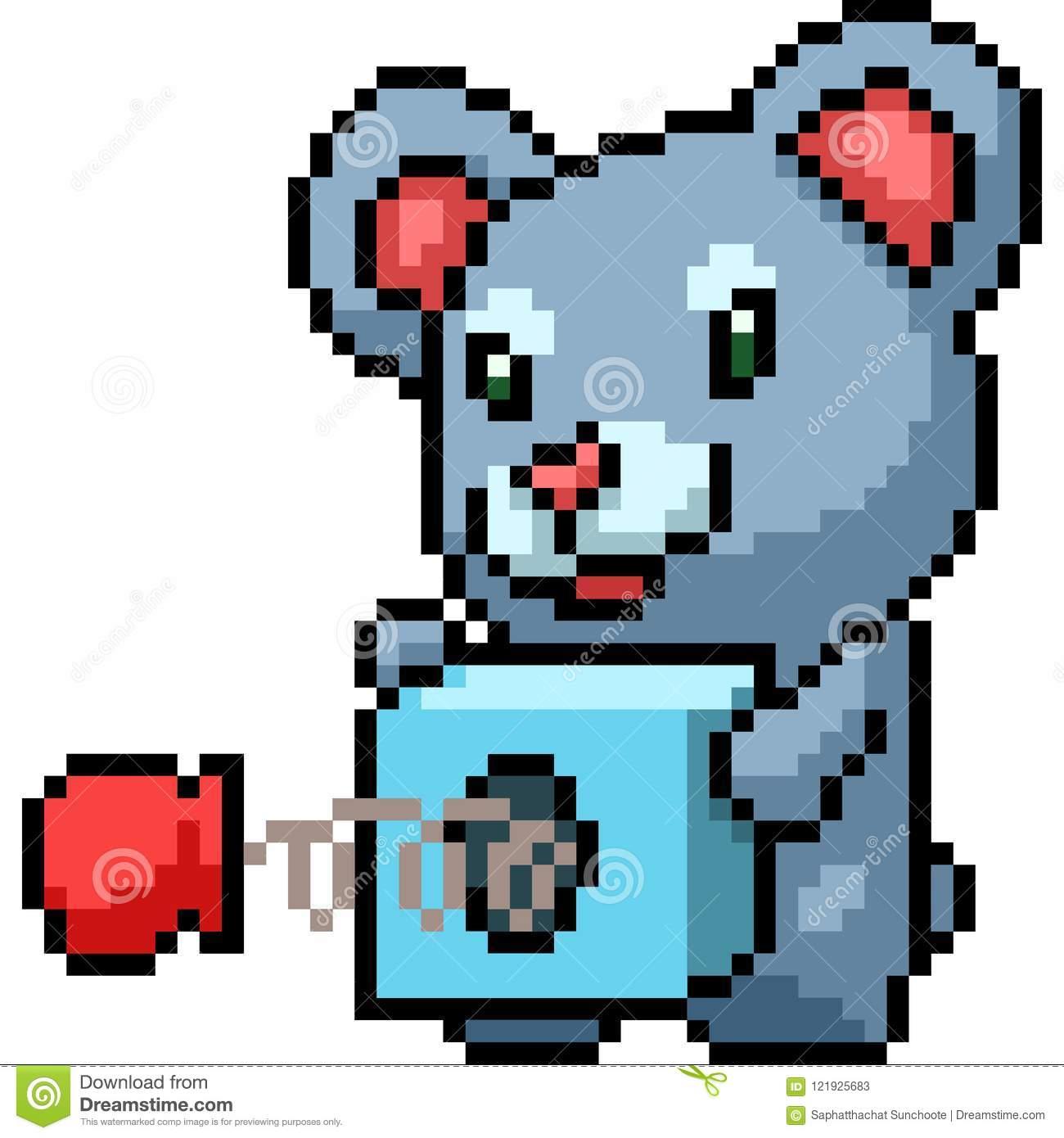 Jouet De Koala D'art De Pixel De Vecteur Illustration De concernant Pixel Jouet