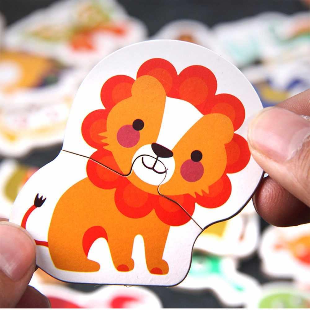 Jouets En Bois Puzzle Pour Enfants 3 Ans Animaux/légumes serapportantà Jeux Animaux Enfant