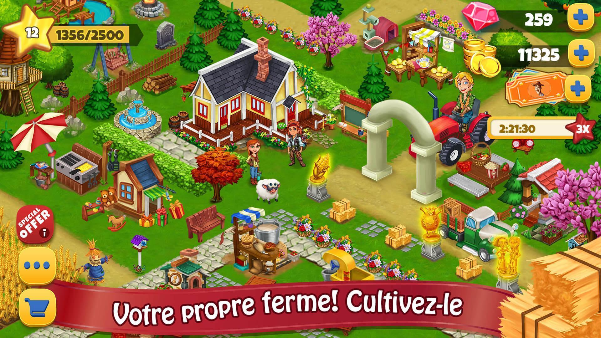Jour Farm Village: Agriculture Jeux Hors Ligne Pour Android avec Jeux En Ligne De Ferme