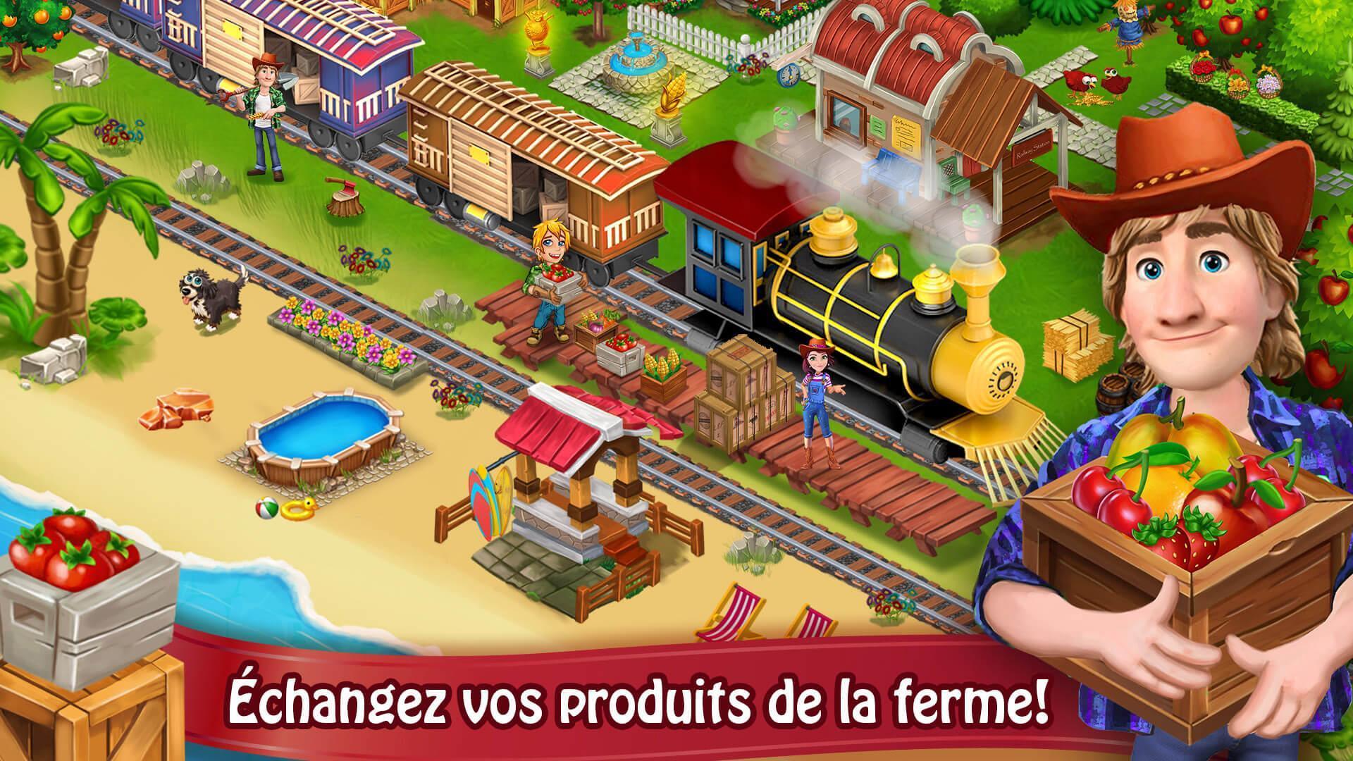 Jour Farm Village: Agriculture Jeux Hors Ligne Pour Android concernant Jeux En Ligne De Ferme