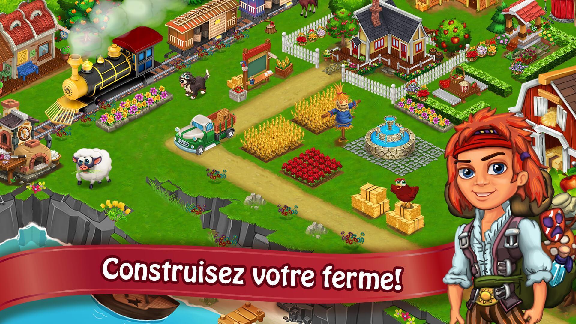 Jour Farm Village: Agriculture Jeux Hors Ligne Pour Android dedans Jeux En Ligne De Ferme