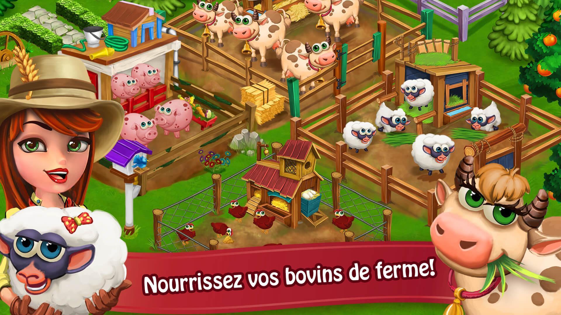Jour Farm Village: Agriculture Jeux Hors Ligne Pour Android serapportantà Jeux En Ligne De Ferme