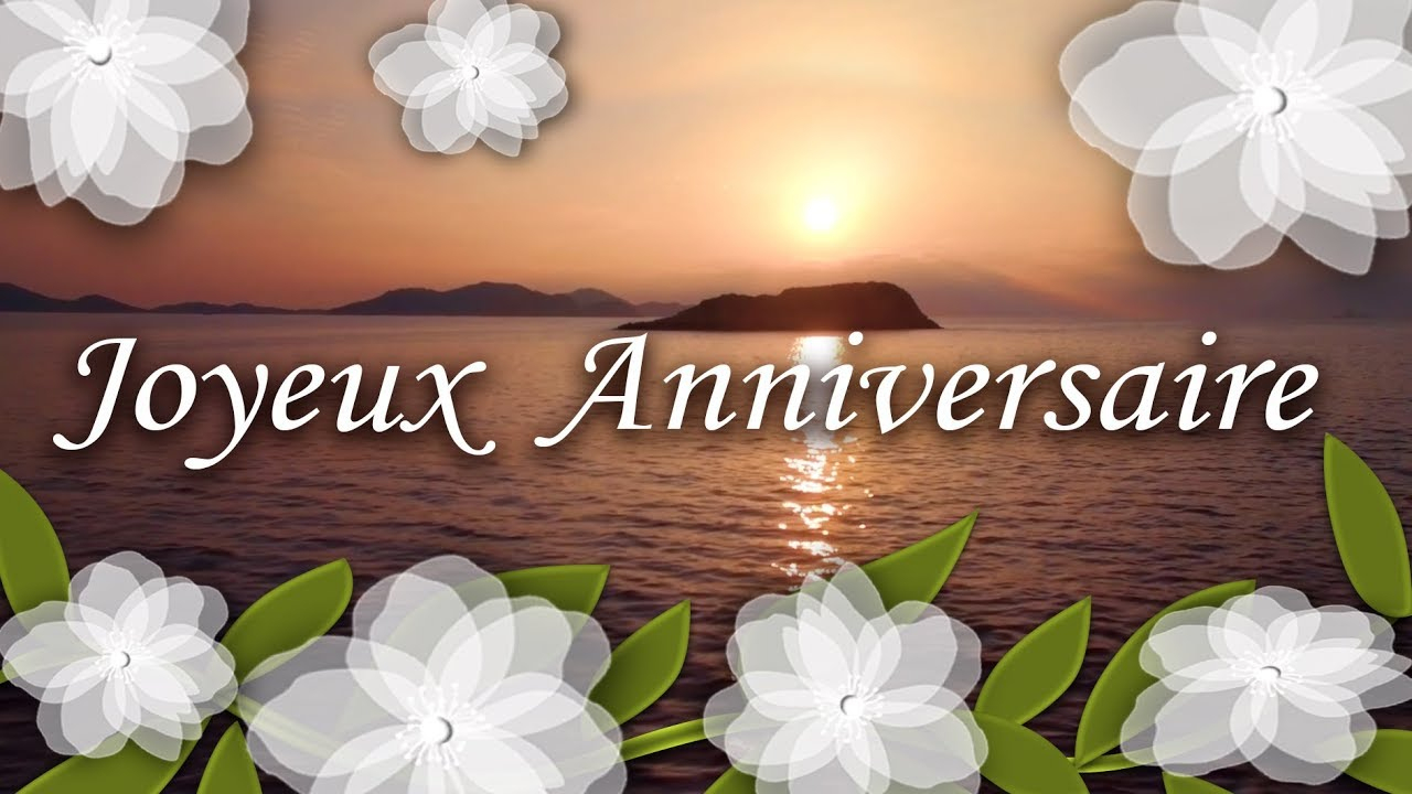 Joyeux Anniversaire - Jolie Carte Virtuelle Anniversaire avec Carte Nouvel An Gratuite