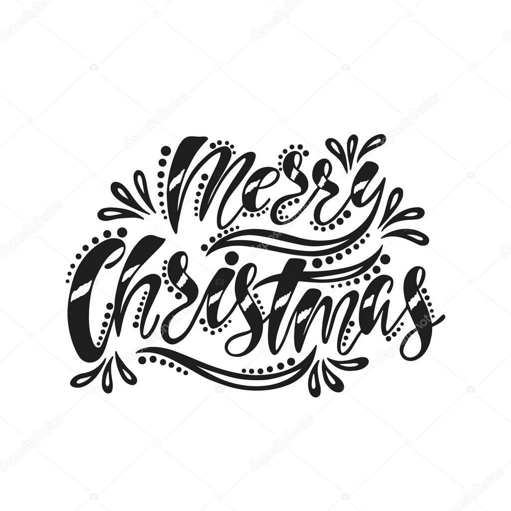 Joyeux Noël. Inscription De L'écriture Manuscrite — Image dedans Ecriture De Noel A Imprimer