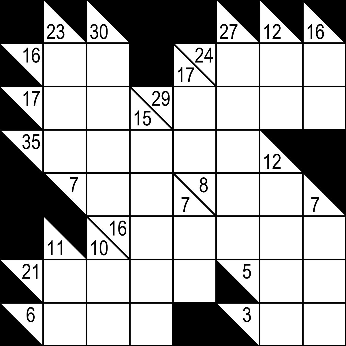 Kakuro — Wikipédia pour Jeux Sudoku À Imprimer