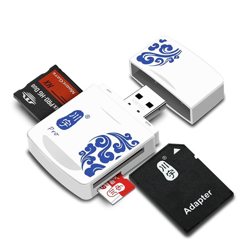 Kawau Mini Portable Usb 2.0 Tf Carte Mémoire Sd Ms Lecteur De Carte Pour  Ordinateur Tablette Pc dedans Carte Memoire Tablette