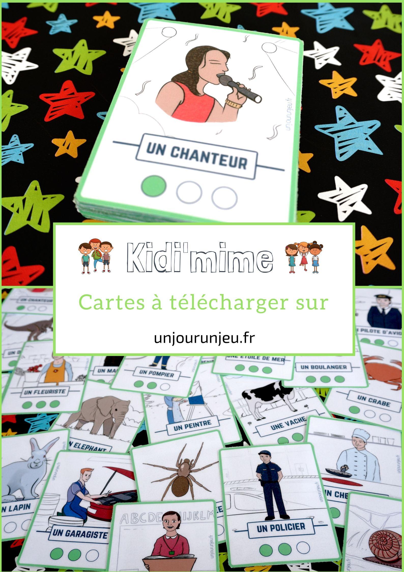 Kidi'mime : Un Jeu De Mimes Et D'action À Imprimer destiné Jeux De Cartes À Télécharger Gratuitement